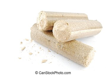 Briquettes and granulated firewood - briquettes made of...