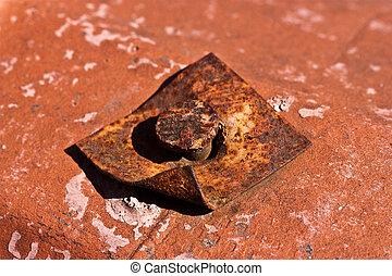 Rusted Iron Nail