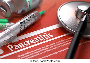 Diagnosis - Pancreatitis. Medical Concept. - Diagnosis -...