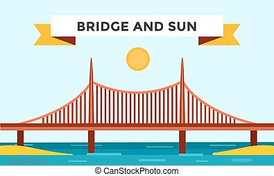 Modern bridge illustration - Modern bridge illustration...
