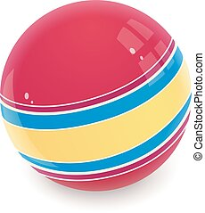 Ball. Childs toy. Eps10 vector illustration