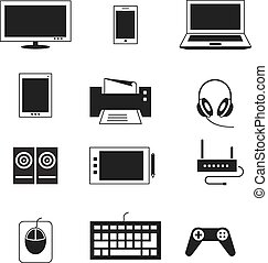 Computer electronic device vector templates Tablet and...