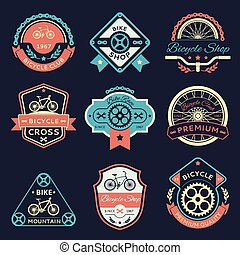 Bicycle and bike color vector logo