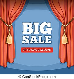Big sale, special offer vector background for business promotion
