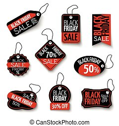 Vector black friday sales tag and banners vector set....