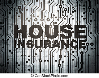 Insurance concept: circuit board with House Insurance -...