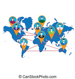 Social Networks Social Media Communication Illustration,...