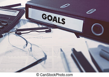 Goals on Office Folder Toned Image - Goals - Office Folder...