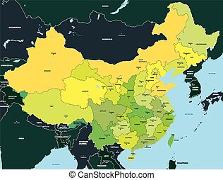 Color map of China