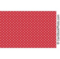 Seamless Dot Pattern. White Dots on Red