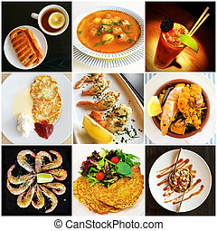 Cuisine of different countries collage - Cuisine of...
