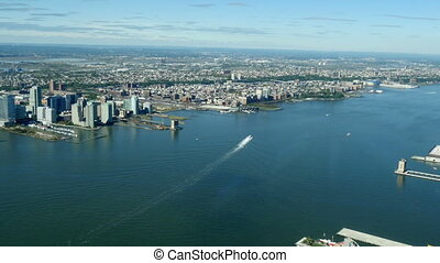 Hudson river and Union City of New - Hudson river and Union...
