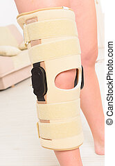Leg in knee cages - Womans leg in knee cages for...