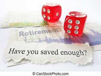 Retirement savings questions with dice and stock market...