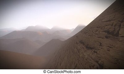 Alien planet scenery - Alien planet - panoramic view of...