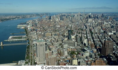 New York City high angle view