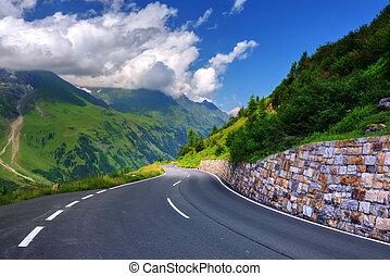pass - Amazing view of alpine pass, Switzerland, Europe