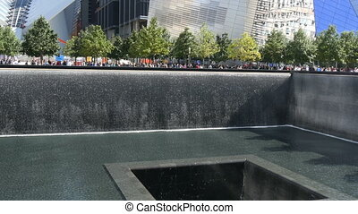 Nine eleven memorial New York at ground zero