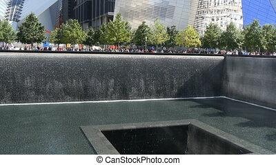 Nine eleven memorial New York at ground zero