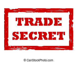 Trade secret stamp - Used trade secret stamp isolated on...