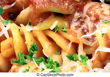Exquisite pasta with fresh tomatoes sauce - Delicious and...