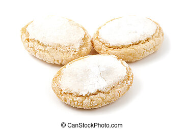 Ricciarelli di Siena on a white background