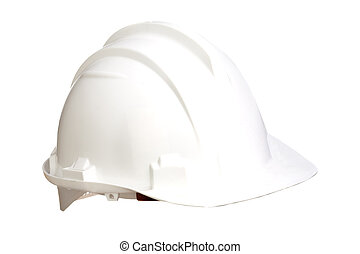White helmet isolated on a over white background