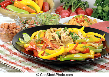 mexican fajitas made with delicious fresh ingredients one of...