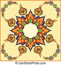 Happy Diwali background with diya - illustration of Happy...