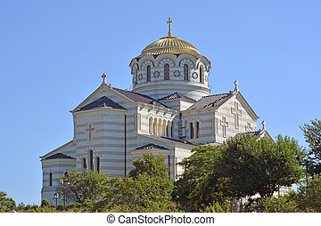 The Vladimir cathedral in Sevastopol on territory of...