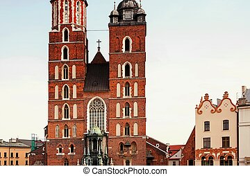 Saint Mary Basilica in Krakow - Saint Mary Basilica and...