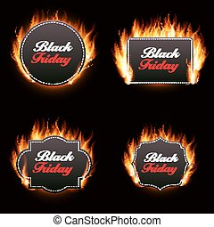 Black Friday Sale Vector Illustration