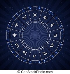 Set of Symbol Zodiac Sign. Vector Illustration