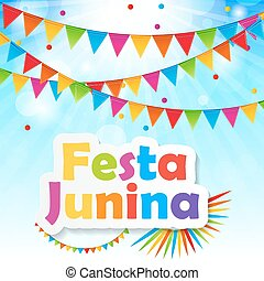 Festa Junina Background Vector Illustration EPS10