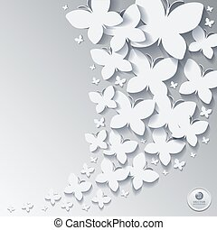 Abstract butterfly  background or card.