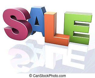 Sale word announcement concept - SALE word letters spelling...
