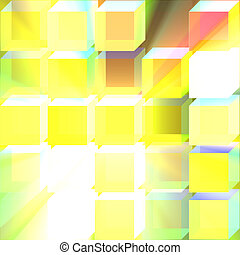 Glass translucent cubes background glowing