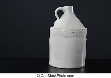 Antique Moonshine Jug - Antique moonshine jug fired with a...