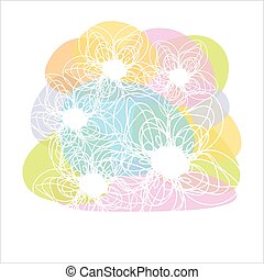 Beautiful flower card, vector.