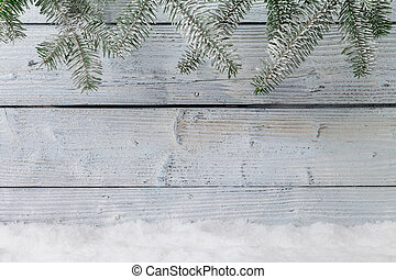 Winter snowy background with copyspace for text