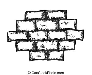 doodle old grunge red brick wall