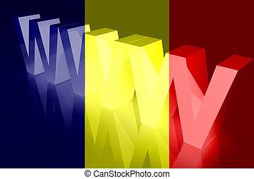 Flag of Chad www internet