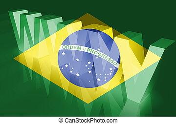 Flag of Brazil www internet