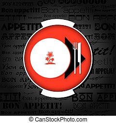 Template menu for restaurant, cafe, bar