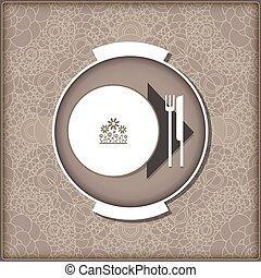 Template menu for restaurant, cafe, bar.