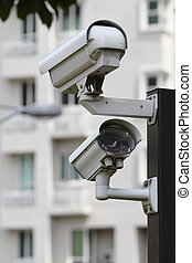 Security camera - A security camera with LED light...