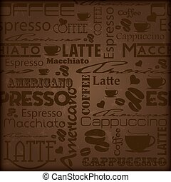 Seamless coffee pattern