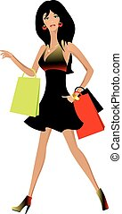 Beautiful woman with shopping