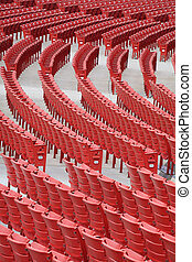 red chairs, Chicago, Millenium park, outdoor image