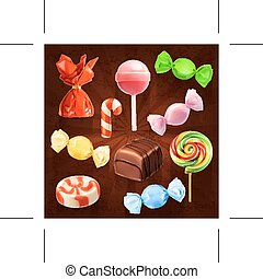 Candies icons - Set with candies icons